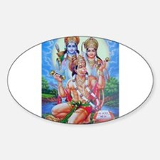 Ram Sita Hanuman Oval Decal