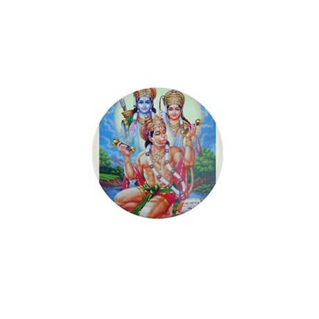 Ram Sita Hanuman Mini Button
