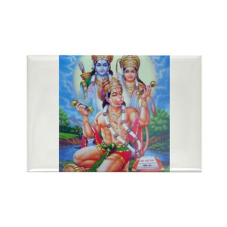 Ram Sita Hanuman Rectangle Magnet