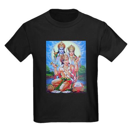 Ram Sita Hanuman Kids Dark T-Shirt