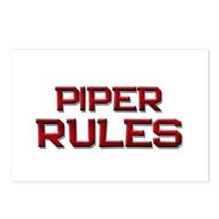 piper rules Postcards (Package of 8)