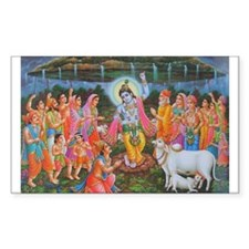 Krishna Govardhana Rectangle Decal