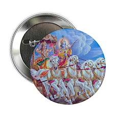 """Krishna Arjuna 2.25"""" Button"""