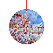 Krishna Arjuna Ornament (Round)
