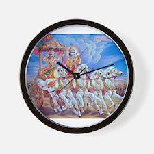 Krishna Arjuna Wall Clock