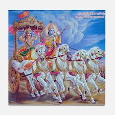 Krishna Arjuna Tile Coaster
