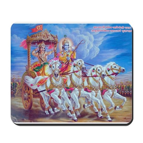 Krishna Arjuna Mousepad
