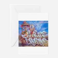 Krishna Arjuna Greeting Card
