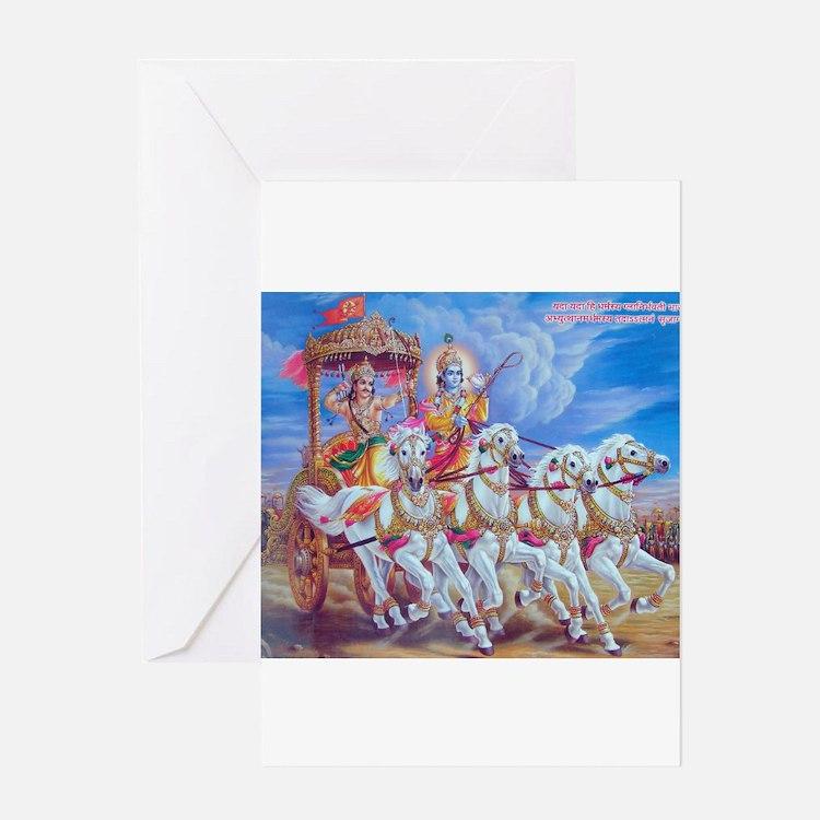 Krishna Arjuna Greeting Card