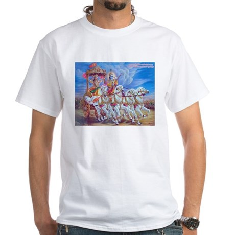 Krishna Arjuna White T-Shirt