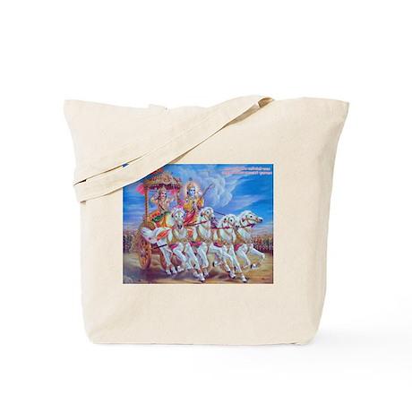 Krishna Arjuna Tote Bag