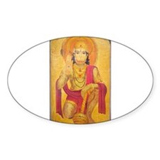 Hanuman Ji Oval Decal