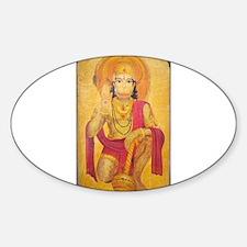 Hanuman Ji Oval Decal