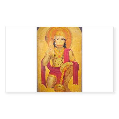 Hanuman Ji Rectangle Sticker