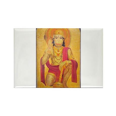 Hanuman Ji Rectangle Magnet