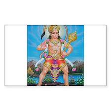 Jai Hanuman Rectangle Decal