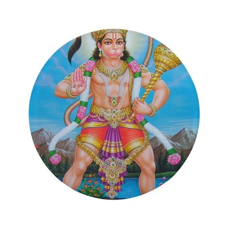 "Jai Hanuman 3.5"" Button"