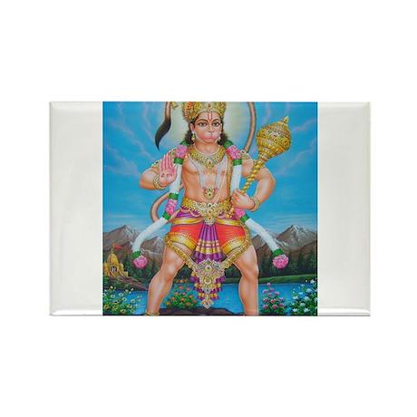 Jai Hanuman Rectangle Magnet
