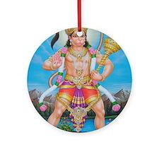 Jai Hanuman Ornament (Round)