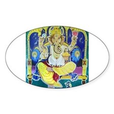Jai Ganesh Oval Decal