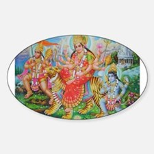 Durga Mata Oval Decal