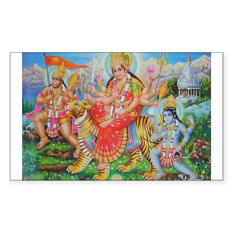 Durga Mata Rectangle Sticker