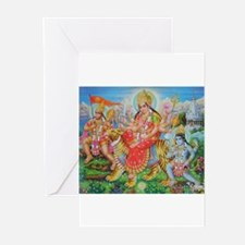 Durga Mata Greeting Cards (Pk of 10)