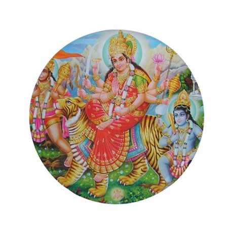 "Durga Mata 3.5"" Button"