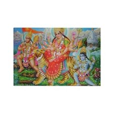 Durga Mata Rectangle Magnet