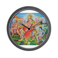 Durga Mata Wall Clock