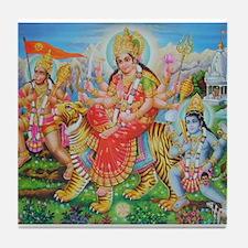 Durga Mata Tile Coaster