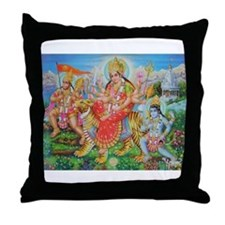 Durga Mata Throw Pillow