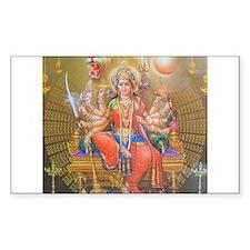 Durga ji Rectangle Decal