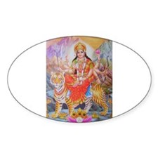 Durga mata ji Oval Decal
