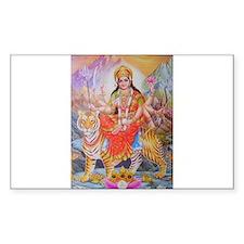 Durga mata ji Rectangle Decal