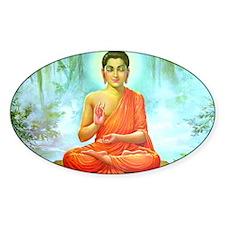 Buddha ji Oval Decal