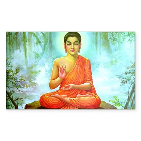 Buddha ji Rectangle Sticker