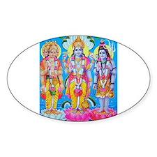 Brahma Vishnu Shiva Oval Decal