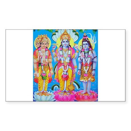 Brahma Vishnu Shiva Rectangle Sticker