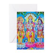 Brahma Vishnu Shiva Greeting Card