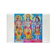 Brahma Vishnu Shiva Rectangle Magnet