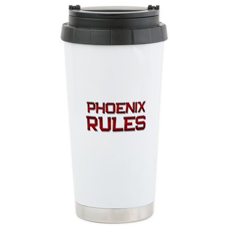 phoenix rules Stainless Steel Travel Mug