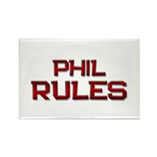 phil rules Rectangle Magnet