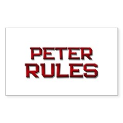 peter rules Rectangle Decal