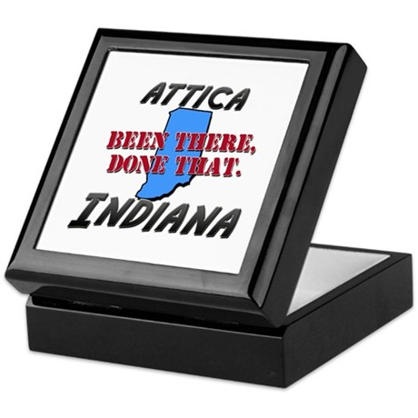 attica indiana - been there, done that Keepsake Bo