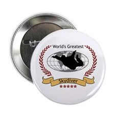 """World's Greatest Skydiver 2.25"""" Button"""