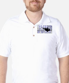 Jump (Blue Text) Golf Shirt