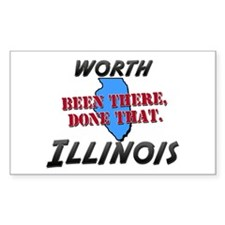 worth illinois - been there, done that Bumper Stickers