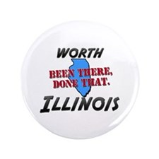 """worth illinois - been there, done that 3.5"""" Button"""