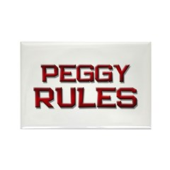 peggy rules Rectangle Magnet (10 pack)